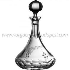Springtime Clear Wine Ship Decanter 448€ Table Top Design, Whiskey Decanter, Crystal Glassware, Luxury Candles, Bath Linens, Budapest, Spring Time, Candle Holders, Porta Velas