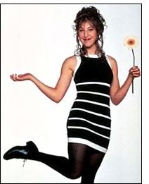 Blossom's Mayim Bialik wearing classic 90's chunky heeled shoes