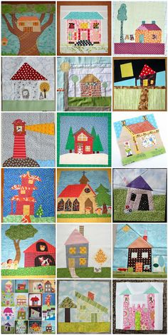 wonky quilts barns | Stash Bee: April Blocks Hive #2