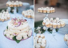 Gorgeous Vineyard Wedding With Boho Flair - Wilkie: Cupcakes are the mini treat all of your wedding guests are guaranteed to fall in love with!