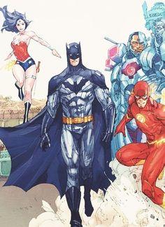 we need to stop calling it the justice league. its batman and his bitches xD Superman, I Am Batman, Batman Art, Batman Stuff, Batman Robin, Comic Book Characters, Comic Character, Comic Books Art, Comic Art