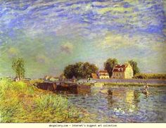 Alfred Sisley. The Canal du Loing at St. Mammes. 1885