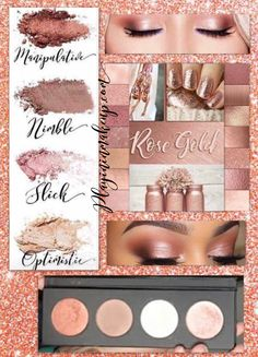 Rose Gold Eye look Pressed Shadow Quad PaletteYou can find Younique and more on our website.Rose Gold Eye look Pressed Sha. Rose Gold Eyeshadow, Rose Gold Makeup, Eyeshadow Looks, Makeup Eyeshadow, Eyeliner, Younique Eyeshadow Palette, Younique Lipstick, Makeup Younique, Contour Makeup
