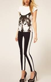 mens black and white jeggings - Google Search