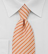 Mens Tie in Orange and White from bows-n-ties.com
