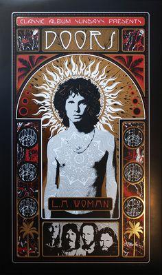Adam Pobiak The Doors L. Woman Posters Release By Flood Gallery Exclusive Psychedelic Rock, Rock Posters, Band Posters, Vintage Concert Posters, Vintage Posters, Art Hippie, Digital Foto, Women Poster, Pochette Album