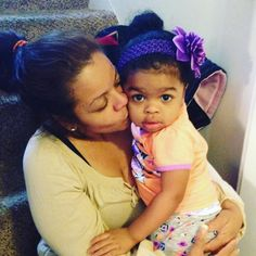 My purple princess was happy to see her Gma after her vacation!