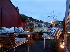 Duplex, Scandinavian Home, Outdoor Furniture, Outdoor Decor, Apartment Living, Decoration, Front Porch, Sun Lounger, Relax