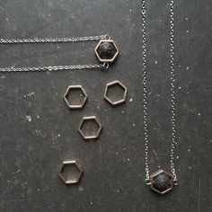 *NEW* Hexagon & Lava necklaces are up in the shop!