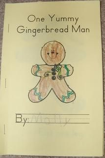 I looooooove Mrs. Shehan's ideas.  Lots of other gingerbread-related projects here, too.  My favorite unit!