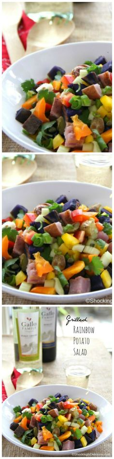 A no-mayo, potluck-friendly potato salad chock full of colorful spuds and vegetables, for the best side dish at the BBQ.