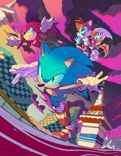 """Riggo on Twitter: """"Colored up @yardleyart's wicked lineart for practice… """" Sonic Videos, Sonic Mania, Pixel Animation, Sonic Adventure, Sonic Heroes, Sonic And Amy, Sonic Fan Characters, Echidna, Sonic Fan Art"""