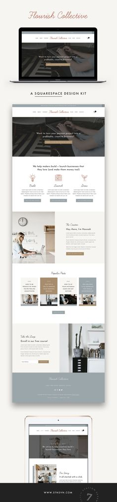 Introducing Flourish! A minimalist Squarespace Design Kit created for Infopreneurs, course creators, coaches and online entrepreneurs. Marrying classic Station Seven design with intentional layouts designed to convert, Flourish is here to take your business to new heights.