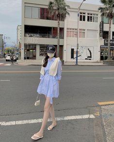 Aurora Dress, Korean Outfits, Ulzzang, Korean Fashion, Ootd, Fashion Outfits, Shirt Dress, Fitness, People
