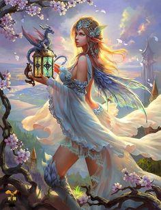 El hada y el dragónLuria es una encantadora hada del fantástico reino mágico de Alaidana, que encontró un huevo en medio del bosque. Ella guardó su nueva adquisición como un tesoro. Un buen día aquélla posesión empezó a moverse y surgió un increíble y simpático dragón, El corazón de Luria se enterneció quedando totalmente enamorada de este peculiar bebé, un sentimiento que fue correspondido, creándose un vinculo especial entre dos seres diferentes pero afines.