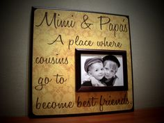 Custom Grandparents Picture Frame Mimi Papa by YourPictureStory. , via Etsy.