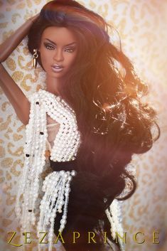 African American Beauty, African American Dolls, Fashion Royalty Dolls, Fashion Dolls, Diva Dolls, Glam Doll, Baby Girl Dolls, Beautiful Barbie Dolls, Barbie Fashionista