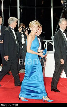 Princess Diana at the Victor Chang Charity Ball for the Cardiac Research Institute, Sydney, Australia Stock Photo