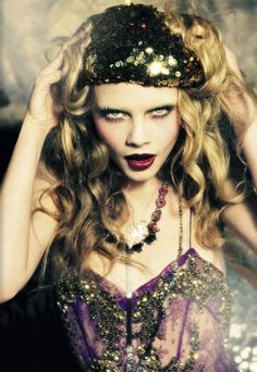 Cara Delevingne by Ellen von Unwerth for Vogue Italia, November 2012 by RioLeigh