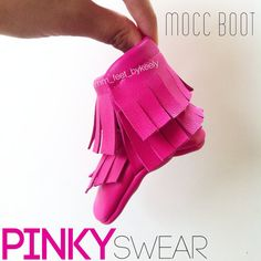 Hot Pink Moccasins BOOTS Baby Moccs mocc boots Hot Pink by MMfeet  #moccasins #diymoccs #moccboots #boots #booties #moccasinboots #baby #children #babygift #fal #falfashion #octorber #breastcancerawareness #pink #hotpink #leather #diy #genuineleather #boots