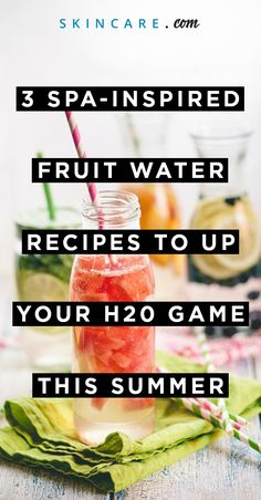 Switch things up by swapping your plain, basic water for some spa-inspired flavors. These herb and fruit-infused recipes are the perfect choice for a hot summer day. They are a great way to encourage those of us who need more H2O on a daily basis!