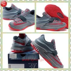 Buy Mens Gray Red KD00150170 Nike KD 7 (VII) CKEADY