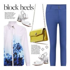 """""""Step Up: Block Heels"""" by beebeely-look ❤ liked on Polyvore featuring MANGO, casual, casualfriday, sammydress, streetwear and blockheels"""