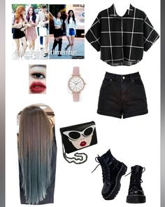 Current dancewear and good leotards, swing, tap and ballerina shoes, hip-hop garb, lyricaldresses. Blackpink Fashion, Kpop Fashion Outfits, Stage Outfits, Korean Outfits, Retro Outfits, Girly Outfits, Dance Outfits, Trendy Outfits, Korean Fashion