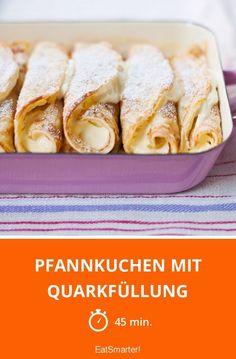 Pfannkuchen mit Quarkfüllung - smarter - Zeit: 45 Min. | eatsmarter.de