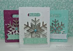 Lawn Fawn - Snow Day, Goodie Bag Lawn Cuts die, Stitched Snowflakes _ Snowflake goodie bags by Heidi via Flickr - Photo Sharing!