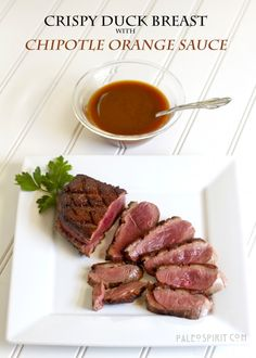 Crispy Duck Breast with Chipotle Orange Sauce