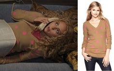 Carrie Diaries episode 2: Carrie's (AnnaSophia Robb) Polka Dot Sweater from Gap #getthelook #carriediaries