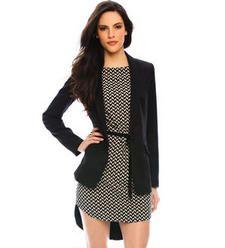 A|X long-line black blazer