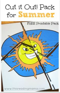 FREE Summer-themed Cutting Practice - Frugal Homeschool Family
