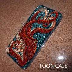 Cute Mosaic Octopus Art design case for iphone