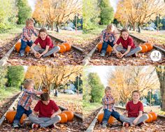 Brothers playing in the fall leaves | Fun Fall Ideas for Outside | Jean Johnson Productions - www.jjshotme.com