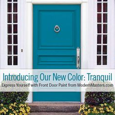 Introducing our NEW non-fade Front Door Paint color...Tranquil! The chic, fresh hue is perfect for the warmer seasons and will brighten the exterior during the colder ones.