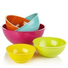 Simplemente Delicioso 5-piece Nesting Mixing Bowl Set