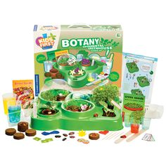 Budding botanists will love getting their hands dirty in this unique biological science experiment kit. Kids First Botany Experimental Greenhouse from Thames & Kosmos. Ages 5 to 10 years. Science Toys, Science Biology, Learn Science, Christmas Gift Guide, Christmas Gifts, Holiday Gifts, Science Experiment Kits, Automatic Watering System, Hippie Kids