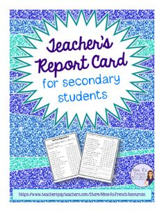 FREE!!! Do you want to know how well you are teaching? Do you want to improve your teaching for next year? Have your students complete a teacher grade card for you at the end of the year!I love to do this because my students are really honest and they give great insight into what they love (or don't love) about my class.