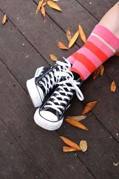 Stripey socks and chucks