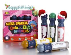 Dab and Dot Set of 5 Super Girl Shimmer Dot Washable Paint Dauber / Markers / Dabbers for preschooler * See this awesome image @