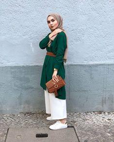 Hijab Casual, Hijab Style, Hijab Chic, Modern Hijab Fashion, Abaya Fashion, Muslim Fashion, Modest Fashion, Fashion Outfits, Stylish Work Outfits