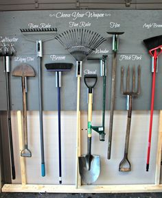Garden Tool Storage Wall Tutorial
