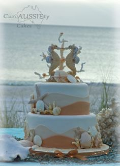- My first ever wedding cake. French Vanilla top tier, choc/choc chip with caramel fleur de sol bottom tier.