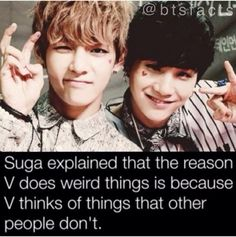 BTS facts V and Suga