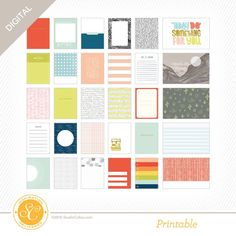 Canyonlands Printable Journal Cards at Studio Calico