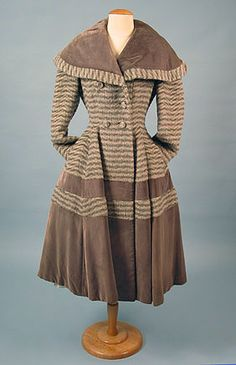 Lilli Ann, Striped Wool Coat, 1950s.