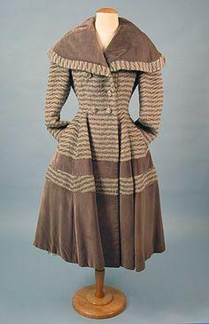 Lilli Ann, Striped Wool Coat, 1950s.