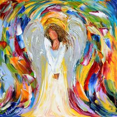 Engel Segen Druck gemacht vom Image der Original-Gemälde von